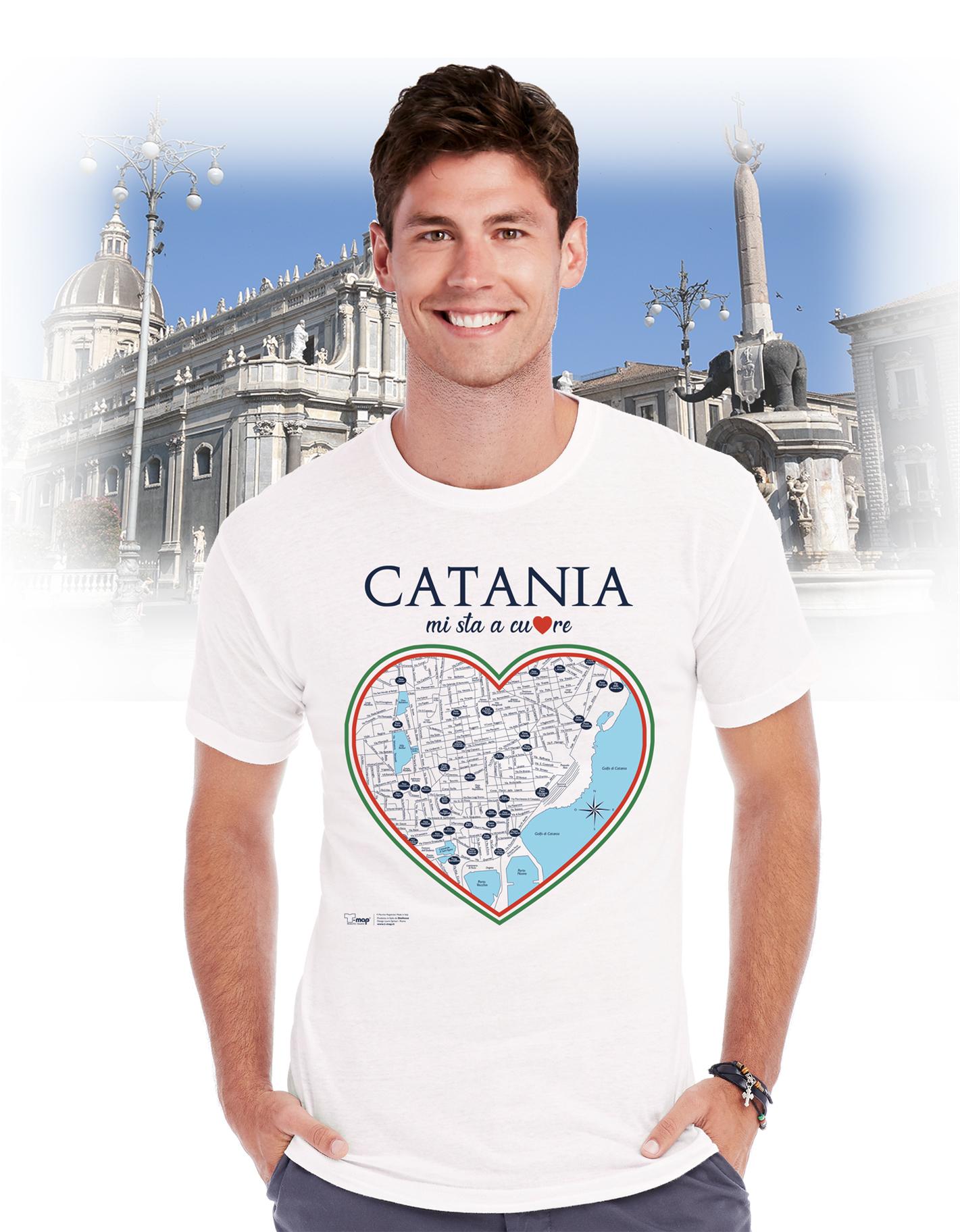 T-shirt catania cuore