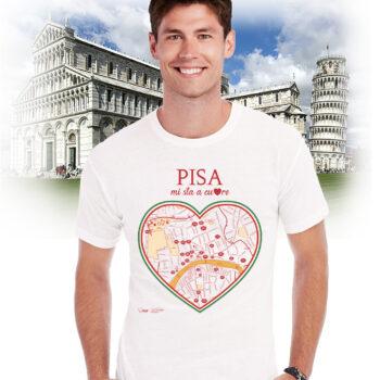 T-shirt pisa cuore