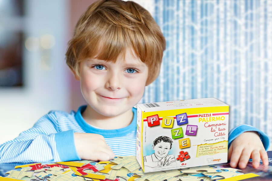 puzzle palermo con bambino