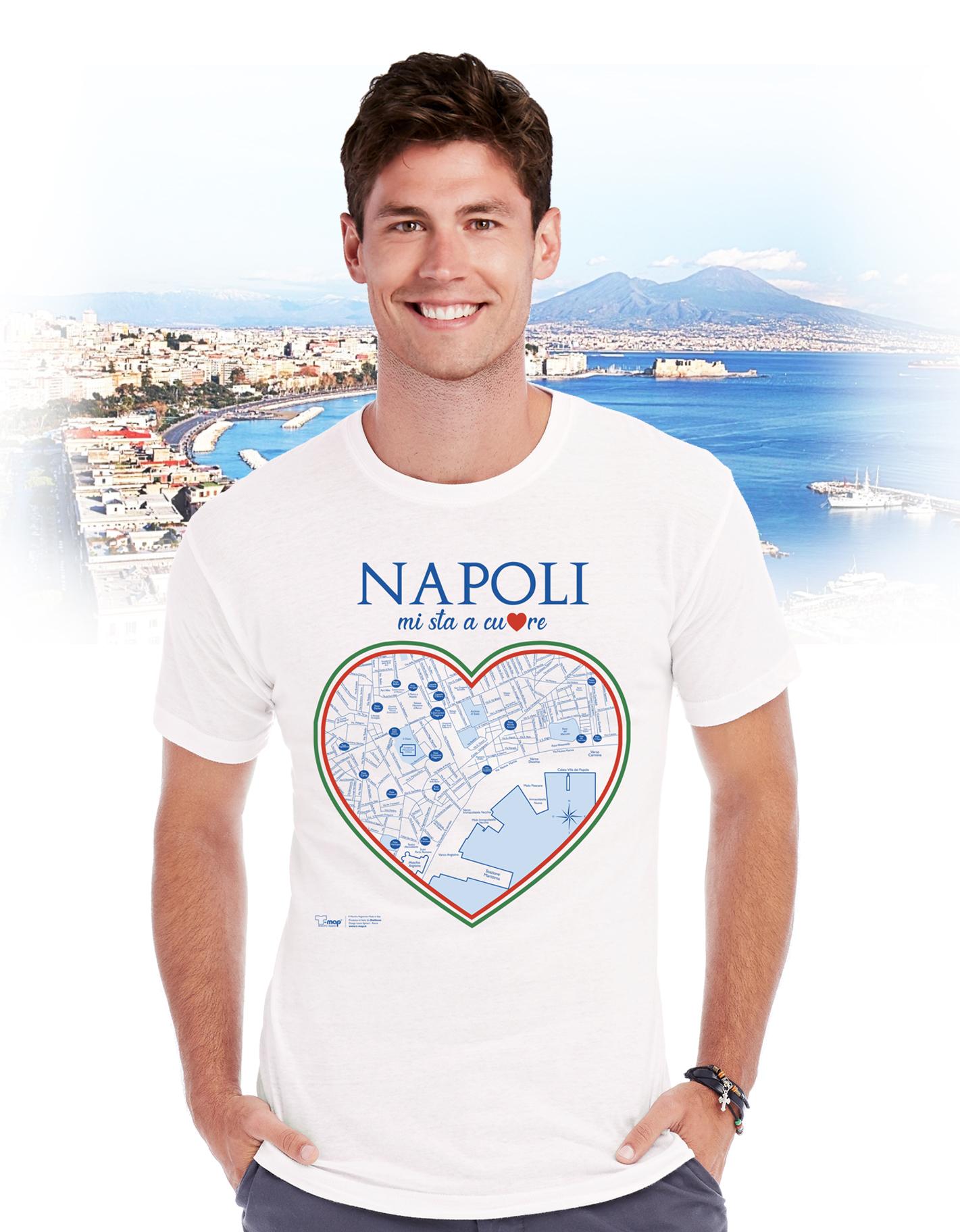 T-shirt Napoli cuore