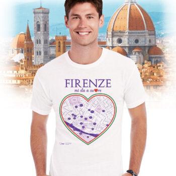 T-shirt firenze cuore