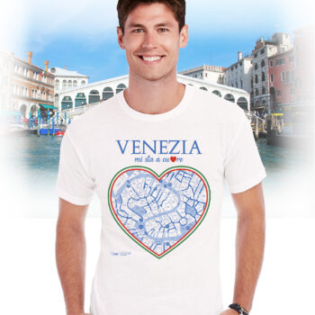 T-shirt venezia cuore